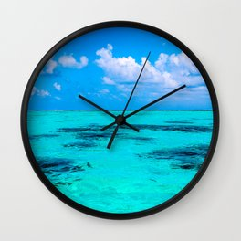 All the Blues Wall Clock