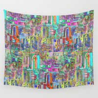 greek Wall Tapestries featuring GREEK PARADISE by S CHANTRAINE