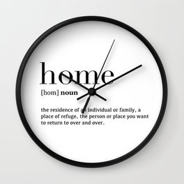 Home definition Wall Clock