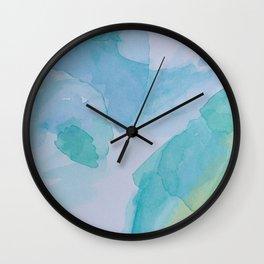 Blurred depths Wall Clock