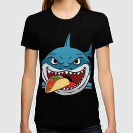 """Perfect Gift For Any Tacos Lovers Or For Those Who Have Big Appetite """"Shark Eating Tacos"""" T-shirt T-shirt"""