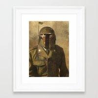 general Framed Art Prints featuring General Fettson   by Terry Fan