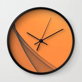 Zen Beach Orange Wall Clock