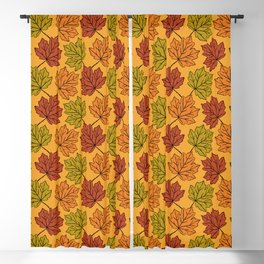 Maple Leaves Pattern Blackout Curtain