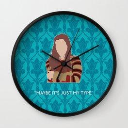 The Empty Hearse - Molly Hooper Wall Clock
