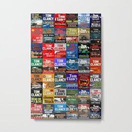 Tom Clancy Books Metal Print