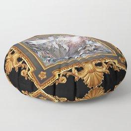 Royal Princess cut Diamond Floor Pillow