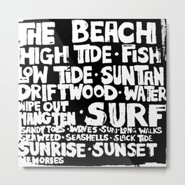 The Beach Subway Art Metal Print
