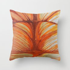 Rusty Abstract Watermarks Throw Pillow