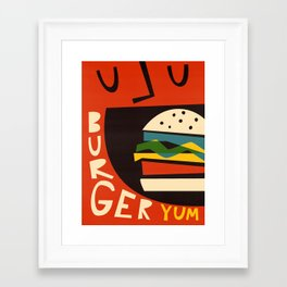 Yum Burger Framed Art Print