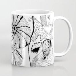 Mask in flowers. Coffee Mug