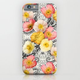 Collage of Poppies and Pattern iPhone Case