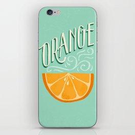 Orange iPhone Skin