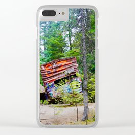 whistler train wreck, 2017 Clear iPhone Case
