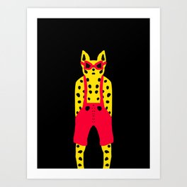 Leopard in Dungarees - Cool for Cats! Art Print