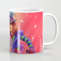 mad hatter Mugs featuring The Mad Hatter by mishybelle