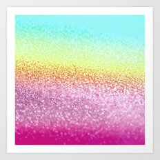 UNICORN GLITTER Art Print