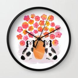 Spring Fling – Dogs Wall Clock