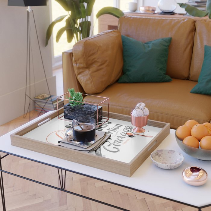 Life shrinks or expands... Serving Tray