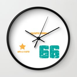 Life begins at 66 Birthday Design Vintage Style Wall Clock