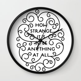 How Strange NMH Black Wall Clock