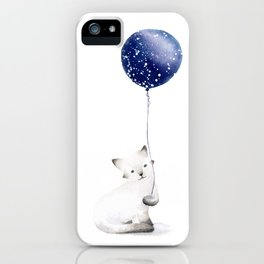 Cat With Balloon iPhone Case