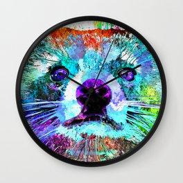 Raccoon Grunge Wall Clock