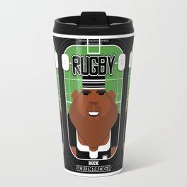 Rugby Black - Ruck Scrumpacker - Hayes version Travel Mug