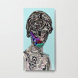 Millenium Space Goddess Metal Print