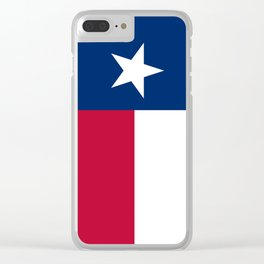 Texas state flag, High Quality Authentic Version Clear iPhone Case