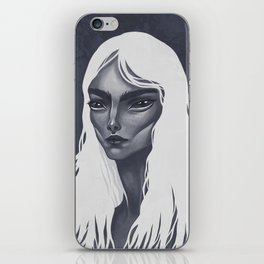 White Haired iPhone Skin