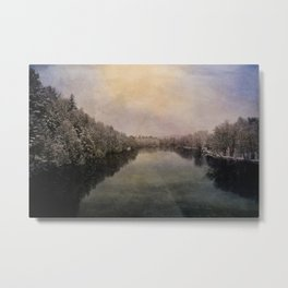 Menominee River Niagara Wisconsin Metal Print