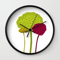 plants Wall Clocks featuring Plants by Studio CODECO