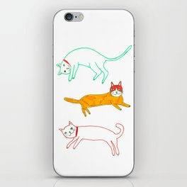 Lying cats iPhone Skin