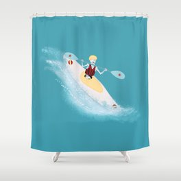 Whitewater Willy Shower Curtain