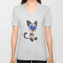 Confused Cat Unisex V-Neck