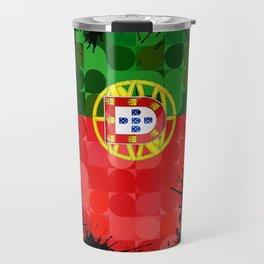 Portugal, Azores, Canadian flags Travel Mug