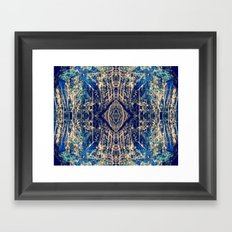 Labradorite Mineral Framed Art Print