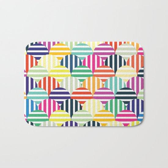 Colorful Circles IV Bath Mat