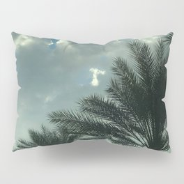 Tiny White 'Angel' Cloud In Sky Above Palms Trees Pillow Sham