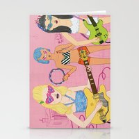 band Stationery Cards featuring Rock Band by Katie Turner