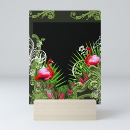 Baroque Flamingos Mini Art Print