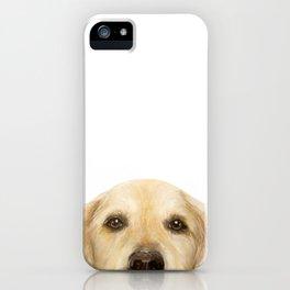 Golden retriever Dog illustration original painting print iPhone Case