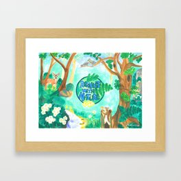 Medilludesign Ecotherapy Forest 2 Framed Art Print