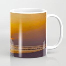 Vintage Sepia Orange Rustic Sunset Over The Ocean Coffee Mug