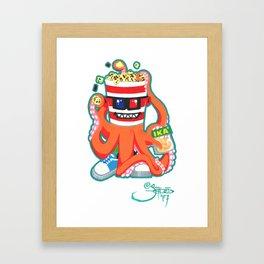 Hurricane Popcorn Kaiju Food Monster Framed Art Print