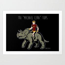 "Tri ""Michael Cera"" tops Art Print"