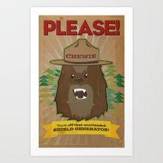 Chewie says... Art Print