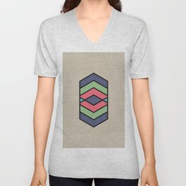 Natural vector pattern in fun colors Unisex V-Neck