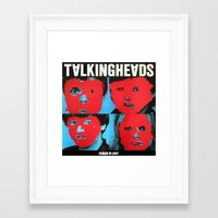 talking heads Framed Art Prints featuring Talking Heads - Remain in Light by NICEALB
